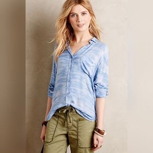 Anthropologie cloth&stone chambray sky top
